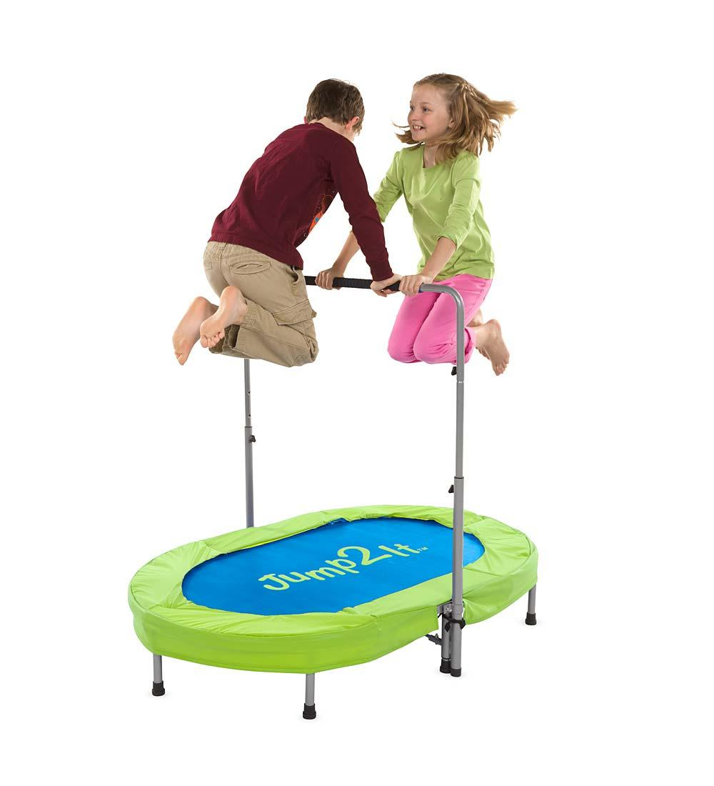 Amazon Com Jump2it Kids Portable 2 Person Mini Trampoline