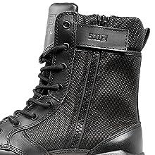 Side zip waterproof tactical boot