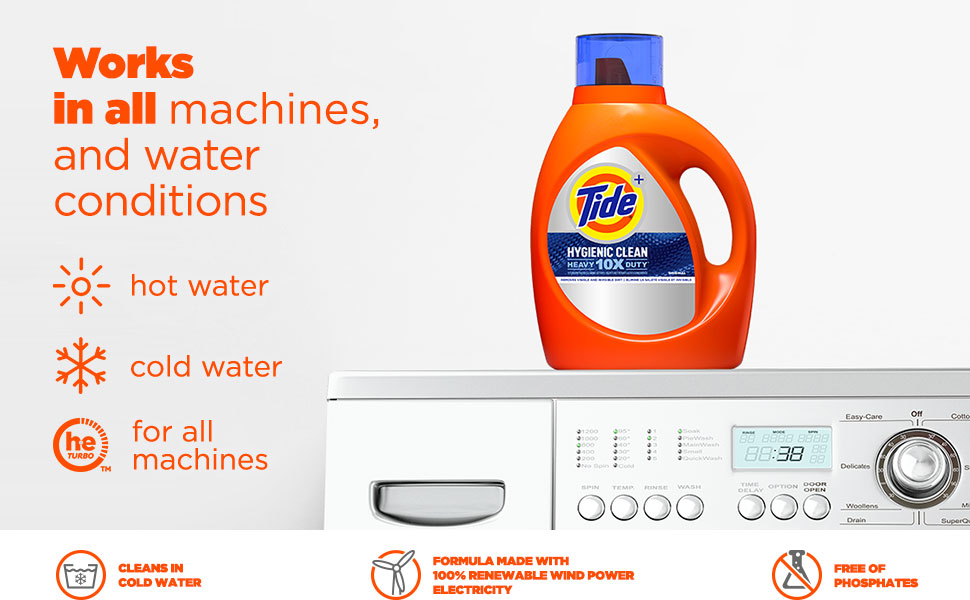 Tide Hygienic Clean Heavy Duty works in all machines and water conditions