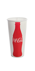 Karat 22oz Paper Cold Cups - Coca Cola (90mm)