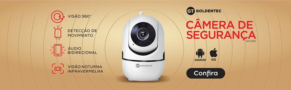 Câmera de Segurança HD 720p 1MP Wi-Fi Goldentec GT CAM1 - Branca    Amazon.com.br