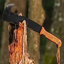 woodmans pal machete handle handmade amish made handle wood woodworking cutting chopping
