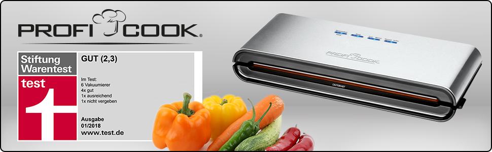 PROFICOOK Vakuummaschine PC-VK1080 Folienschweißgerät Vakuumierer Vakuumiergerät