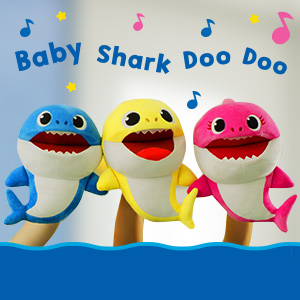 Baby Shark Family Puppets Singing Temp Control Puppet Show