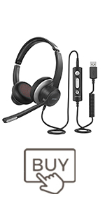 mpow usb headset with microphone pc computer headphones with mute for skype call center