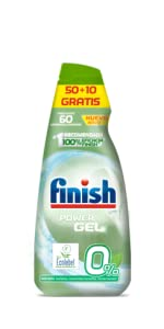 Finish 0% Gel Detergente para Lavavajillas, Certificado ...