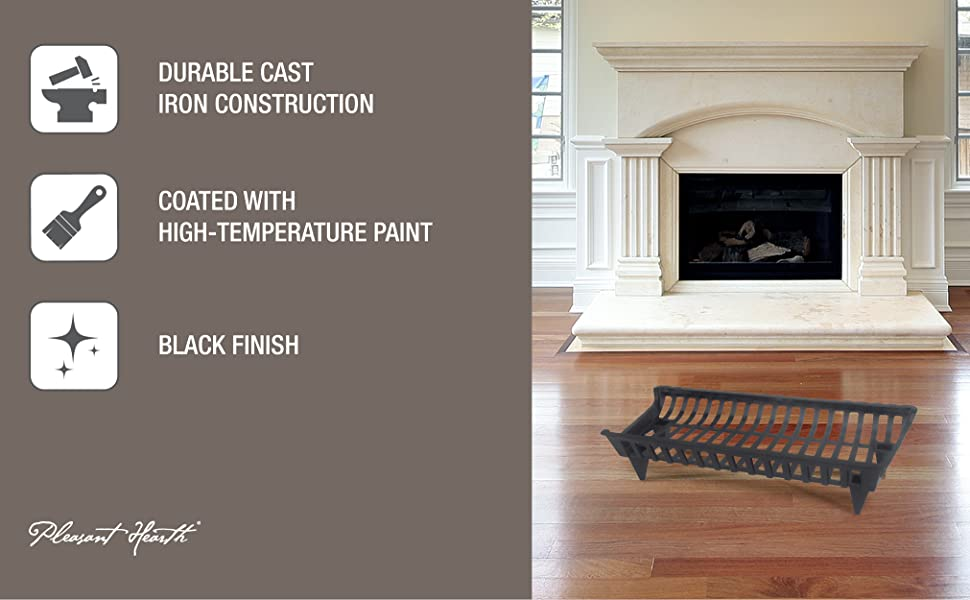 Pleasant Hearth Fireplace Cast Iron Paint Durable Indoor Grate High Temperature