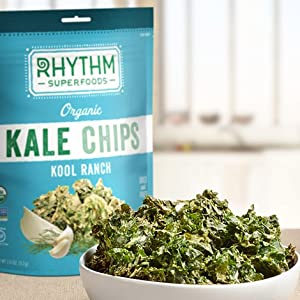 Kale, Chips, Healthy, Vegetable, Veggie, Superfood, Nacho, Garlic, Ranch, Snack, Fresh, Keto, Spicy