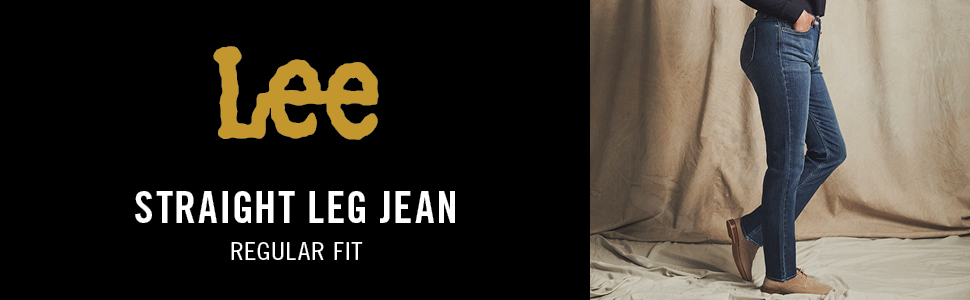 Lee Women's Regular Fit Straight Leg Jean