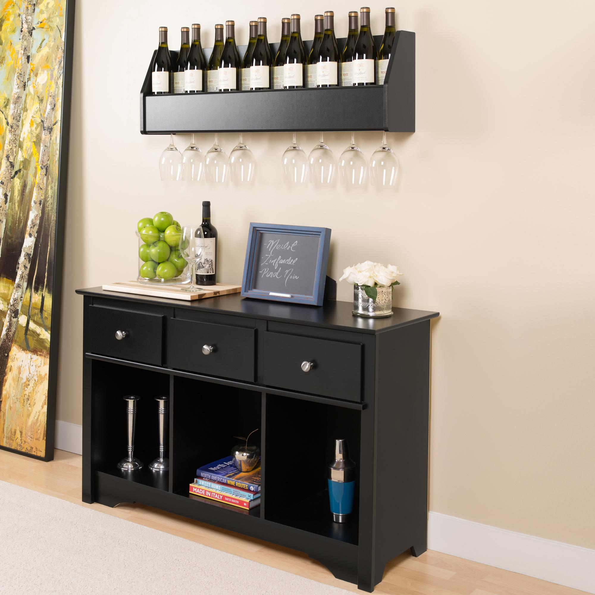 Black Living Room Console Kitchen Dining
