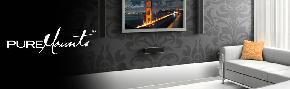 PureMounts WIRE-37 Soporte de pared para TV con 58-107cm (23-42