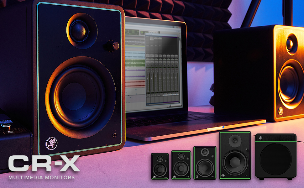 Mackie, CR-X, CR, Studio Monitors, Computer Speakers