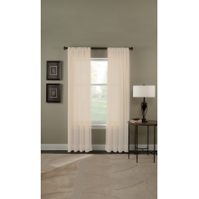 Fun 8\u201d sheer pleated curtains with white pleat header 1:12 scale