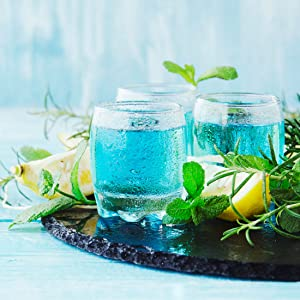 Cocktail bleu fruité