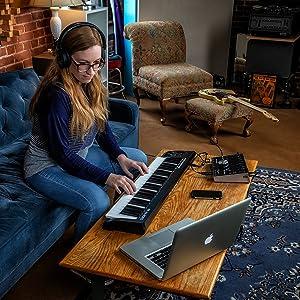 M-Audio Keystation 49MK3 - Teclado Controlador MIDI Compacto de 49 ...
