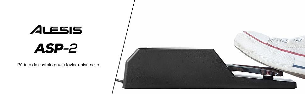 Pédale de sustain pour clavier universelle piano numériques  clavier électronique Alesis ASP-2 MIDI
