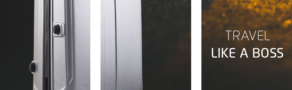 Thorium Stubble Silver Hard Luggage