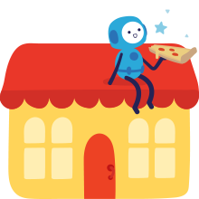 Business skills make pizza play games with others learning education games