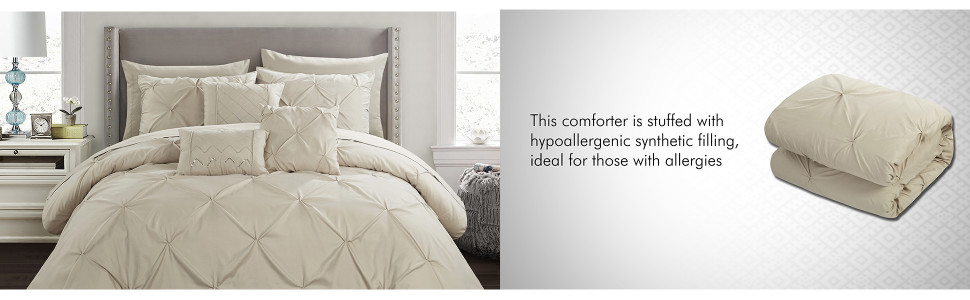 Comforter stuffed with hypoallergenic filling