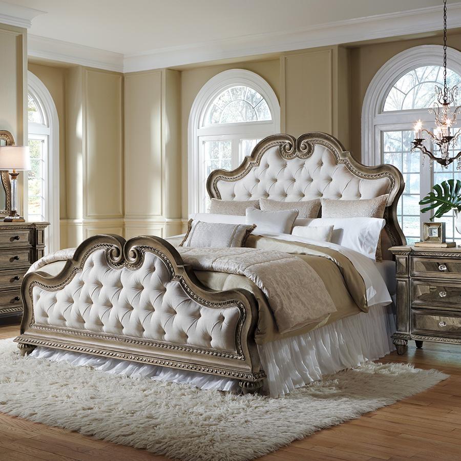 Marvelous Exquisite, Cream, Pulaski, Romantic, Bed, Upholstered Bed