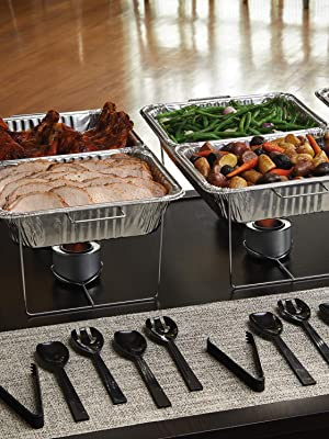 Methanol Fuel and Serving Utensils Party Essentials 22 Piece Party Serving Kit Includes Chafing Kits