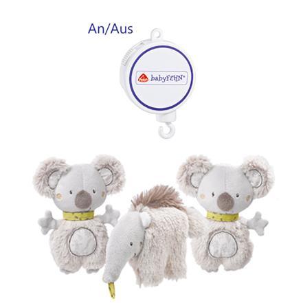 fehn 064070 musik mobile australia spieluhr mobile mit flauschigen koalas und ameisenb ren zum. Black Bedroom Furniture Sets. Home Design Ideas