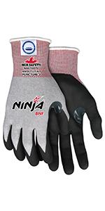 Ninja Wave N96930 Work Gloves, 10 Gauge Kevlar Shell ...