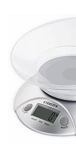 Amazon.com: Etekcity Digital Kitchen Scale Multifunction ...