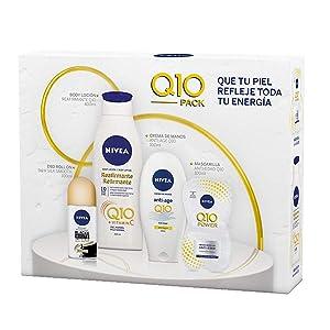 NIVEA Neceser Body Cuidado Completo con body milk 1 x 400 ml, crema de manos 1 x 100 ml, desodorante roll on 1 x 50 ml, gel de ducha 1 x 250 ml y bálsamo labial: Amazon.es
