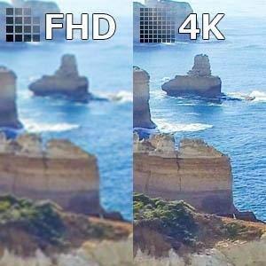 高精細な4K対応モニター