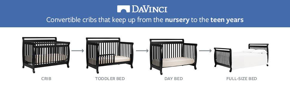 Amazon Com Davinci Emily 4 In 1 Convertible Crib In
