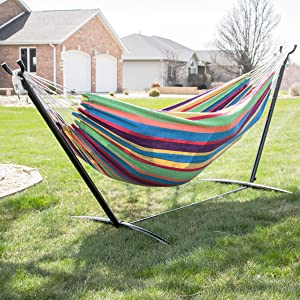 Caribbean Rainbow Hammock with Stand Backyard Hammock Indoor Hammock hammock backyard patio hammock