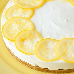 レモンのレアチーズケーキ