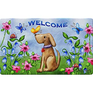 colorful;puppy;spring;summer;flower;floral;butterfly;artistic;greeting;multicolor;sunny