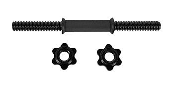 "14/"" Dumbbell Handles Bars Spinlock Collars Quality Steel Metal Set"