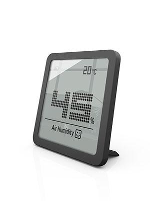 Stadler Form Hygrometer Selina Little Präzises Digitales Messgerät Für Luftfeuchtigkeit Und Temperatur Schwarz Garten