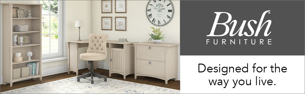 bush furniture,salinas,antique white,casual