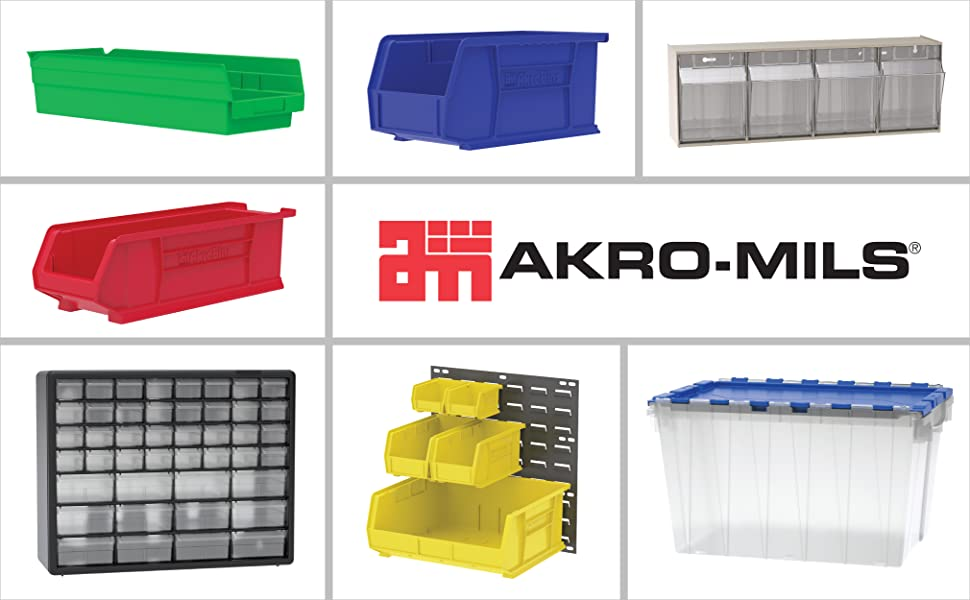 Akro-Mils Akro Mils Akro Mills acro mills plastic storage totes bins container industrial craft box