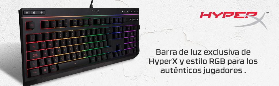HyperX HX-KB5ME2-US Alloy Core RGB - Teclado de membrana para Gaming (US layout)