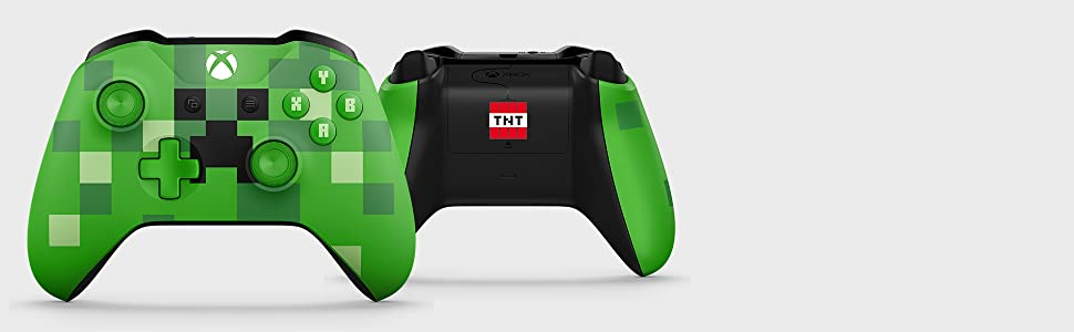 Xbox Wireless Controller Minecraft Green Limited Edition Xbox One - Minecraft headset spielen