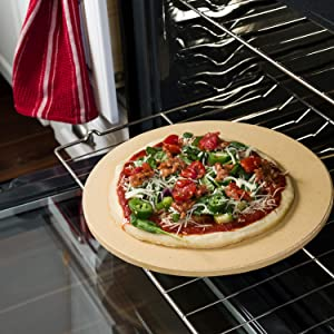 Amazon Com Old Stone Oven Round Pizza Stone Kitchen Amp Dining