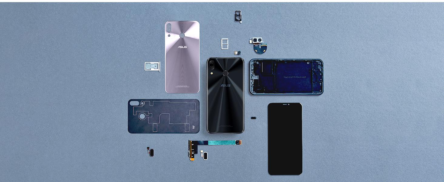 ASUS ZenFone 5Z ZS620 design aluminum