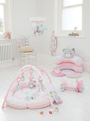f7810ea1ac5d confetti party mobile music play mat sit me up cosy tummy roller arch plush  toys ELC