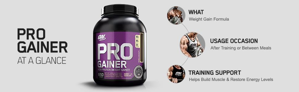Amazon.com: Optimum Nutrition Pro Gainer Weight Gainer Protein Powder,Double Rich Chocolate, 5.09 Pounds (Packaging May Vary): Health & Personal Care