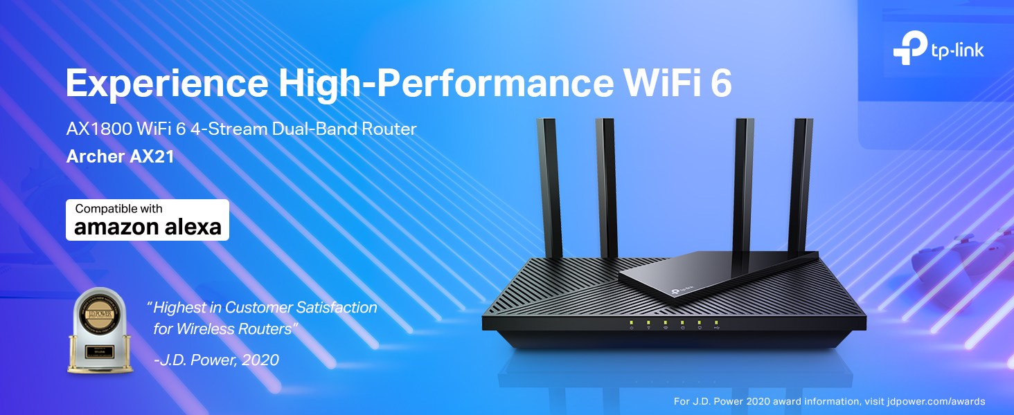 WiFi 6 Dual Band Router - TP-Link AX1800 Archer AX21