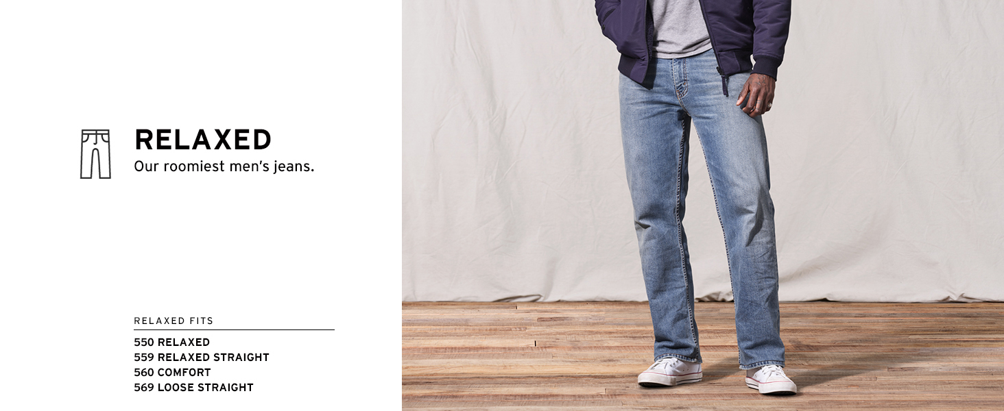 Relaxed: our roomiest jeans