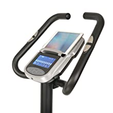 Bike with tablet holder