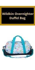 wildkin mermaids overnighter duffle bag