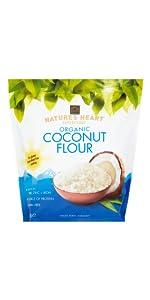 Nature's heart, chia seeds, terrafertil; cacao nibs;coconut flour;coconut sugar;cacao powder;coconut