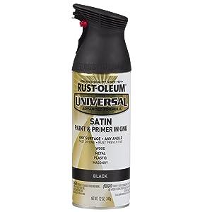 satin product black spray paint